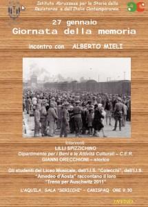 GIORNATA DELLA MEMORIA – 27 GENNAIO