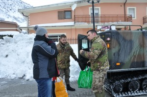 LE FORZE ARMATE NELL' EMERGENZA NEVE