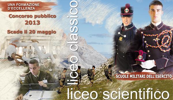 Esercito Italiano – Concorso pubblico per l'ammissione alle Scuole Militari.