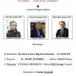 Bressanone incontro con gli scrittori Mar. 30 19.55