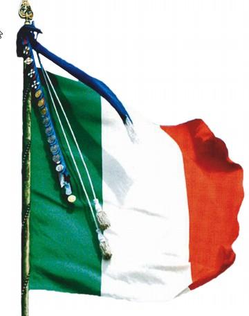 L aquila 25 aprile 2014 manifestazioni per il 69 for Bandiera di guerra italiana