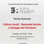 Locandina Tavola Rotonda del Progetto europeo RE_CRI_RE_Mesagne 13 giugno 2015