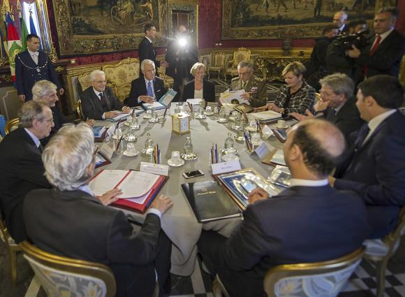 Riunione del Consiglio Supremo della Difesa (CSD) e analisi delle principali problematiche delle crisi in atto.