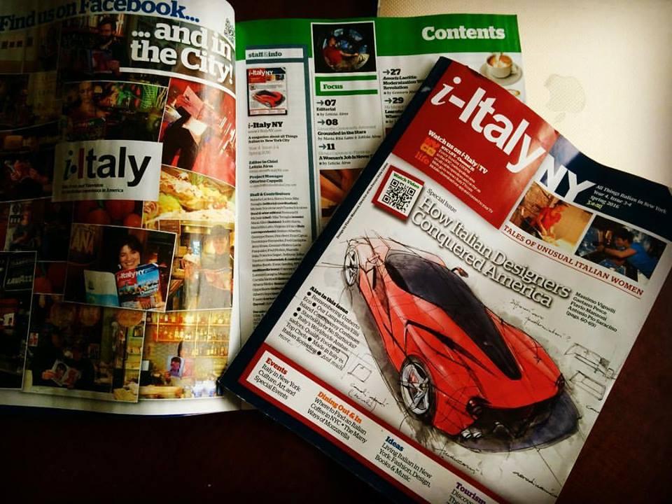 LE MERAVIGLIE DELL'ABRUZZO A NEW YORK: SETTE PAGINE SUL MAGAZINE I-ITALY  Due articoli e belle immagini promuovono la regione sull'ultimo numero della rivista bimestrale