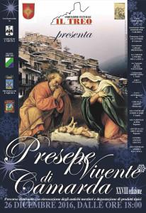 CAMARDA – L'AQUILA. IL 26 DICEMBRE 2016 ORE 18,00 XXVIII EDIZIONE DEL PRESEPE VIVENTE.
