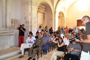 """Comando Militare Esercito """"Abruzzo"""". Il Generale DE VITO  alla mostra dedicata a Joseph Beuys."""