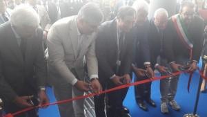 L'AQUILA. Il sottosegretario alla Difesa Domenico Rossi inaugura il nuovo stabilimento Leonardo.