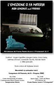 """FREGENE, 13 SETTEMBRE XVI Premio 'Pianeta Azzurro """"I Protagonisti"""" e Mostra L'EMOZIONE SI FA MATERIA – Alba Gonzales and Friends."""