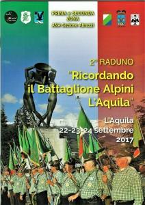 """RICORDANDO IL BATTAGLIONE ALPINI """"L'AQUILA""""  Il 22-23-24 settembre a L'Aquila il 2° Raduno delle Penne nere del glorioso reparto abruzzese."""