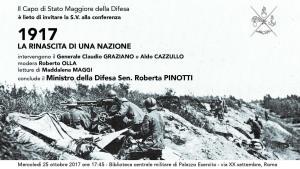 1917: la rinascita di una nazione. Convegno nel centenario della battaglia di Caporetto.