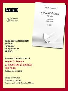 MILANO. Presentazione  Il Sangue è Calce.