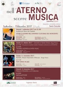 """""""Nell'Aterno scorre Musica"""" – festival. tre appuntamenti tra musica klezmer, cantautorato e canzone napoletana."""