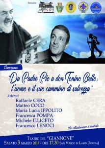 Da Padre Pio a don Tonino Bello:  l'uomo e il suo cammino di salvezza  .