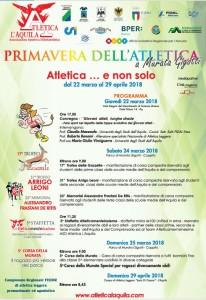 Atletica L'Aquila – Primavera dell'Atletica  Giovedì un convegno con l'Università sull' attività sportiva giovanile e sulla disabilità.