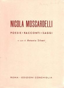Copertina dellibro di Moscardelli pubblicato nel 1953