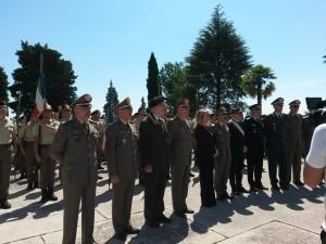 NERVESA DELLA BATTAGLIA (TV). Cerimonia in onori dei caduti alla presenza del Capo di Stato Maggiore dell'Esercito Gen. C.A. Salvatore Farina.