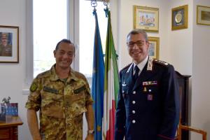 Cambio del comandante provinciale dei carabinieri a L'Aquila. Il Generale Di Giovanni riceve il Col. Santantonio, nuovo Comandante provinciale dei Carabinieri di L'Aquila.