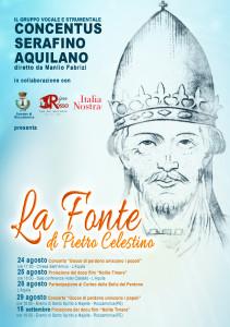 LA FONTE DI PIETRO CELESTINO. Successo del Progetto realizzato tra L'Aquila e Roccamorice.
