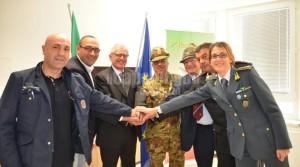 Esercitazione di intervento in pubbliche calamità. Per la prima volta insieme unità delle Forze Armate e della Protezione civile.