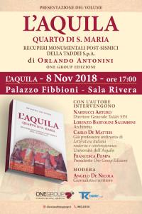 L'AQUILA – QUARTO DI S.MARIA, UN NUOVO LIBRO DI MONS. ANTONINI.