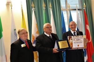 Il presidente Ruberto con il Gen. Luigi Chiavarelli