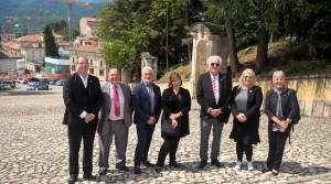 La delegazione di Hobart all'Aquila (maggio 2017)