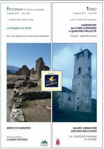 Il 6 e 8 agosto due appuntamenti musicali, a Peltuinum e Tussio,  nel comune di Prata d'Ansidonia