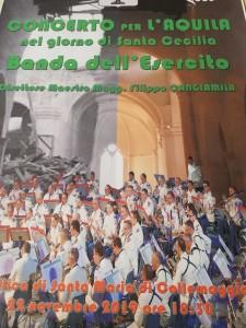 CONCERTO PER L'AQUILA. Nel giorno di Santa Cecilia la Banda dell'Esercito a L'Aquila in concerto per commemorare le vittime del terremoto del 6 aprile 2009.