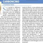 """Rubrica domenicale di Patrizia Tocci """"Carboncino"""", il Centro del 14 ottobre 2018."""