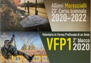 CME ABRUZZO E MOLISE. ESERCITO ITALIANO – CONCORSI PUBBLICI PER L'AMMISSIONE AL 23° CORSO BIENNALE ALLIEVI MARESCIALLI E AL 2°BLOCCO VFP1.
