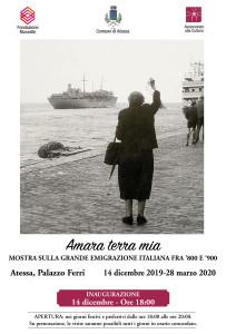 """L'EMIGRATO SUPERSTITE DEL TITANIC E ALTRE STORIE  Ad Atessa (CH) la mostra """"Amara terra mia"""" sulla grande emigrazione italiana fra '800 e '900."""