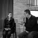 11-Patrizia Angelozzi intervistata dall'inviato Rai Umberto Braccili, un giornalista in prima linea nella difesa dei diritti dei più deboli. Foto Mario Sabatini.