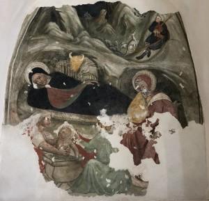 Affresco San Silvestro, parete destra