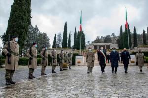 Sacrario di Mignano Monte Lungo, cerimonia di commemorazione del 77° anniversario della Battaglia di Montelungo.