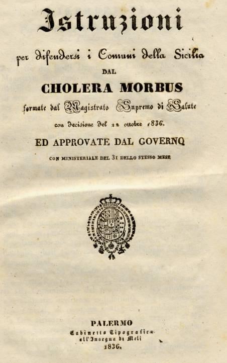 L'ESERCITO E L'EPIDEMIA DI COLERA DEL 1867.